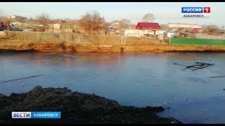 Затопленный котлован угрожает приусадебным участкам
