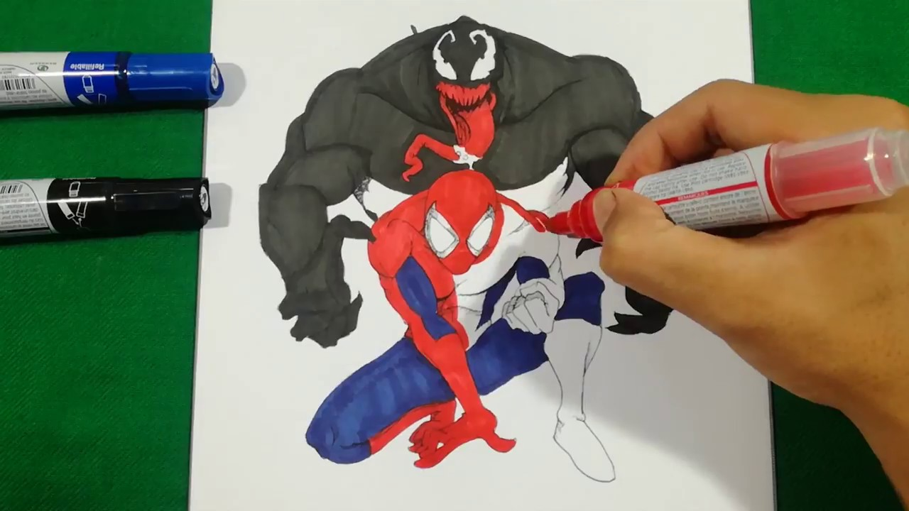 Spiderman Vs Venom Most Scariest Coloring Pages Sailany