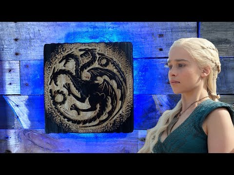 I Carve The House Targaryen House Sigil from Game Of Thrones!