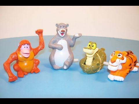 1989 McDONALD'S WALT DISNEY'S CLASSIC THE JUNGLE BOOK SET OF 4 HAPPY MEAL TOY REVIEW