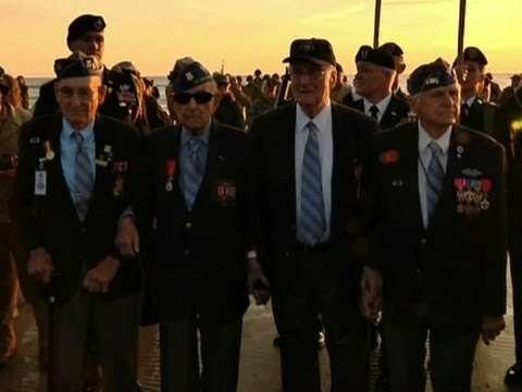 Raw: US D-Day Veterans Gather at Omaha Beach