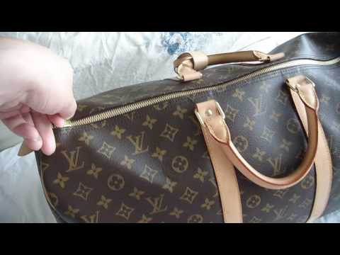 bb552cac3d75 Louis Vuitton Keepall 55 Authentic Monogram LV Luggage Bag - YouTube