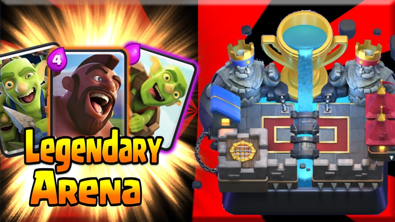 """FINALLY Made it to LEGENDARY ARENA! """"I AM THE SMARTEST MAN ALIVE!"""" Clash Royale"""