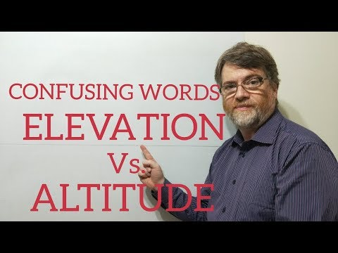Enligh Tutor Nick P Lesson (342) The Difference Between Elevation and Altitude