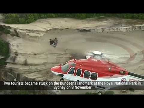 Australia: Video shows dramatic cliff-top rescue in Sydney