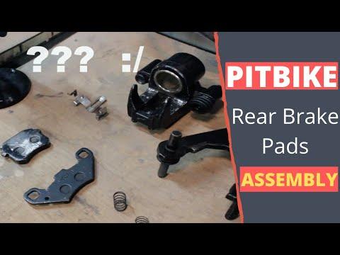 Pitbike rear brakes assembly  FINALLY!!!