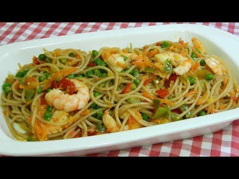 Cómo hacer espaguetis 3 delicias receta muy fácil y rápida