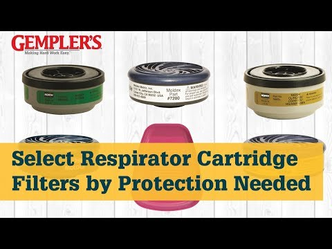 Selecting The Right Reusable Respirator Cartridge Filter | Respirator Tips From GEMPLER'S