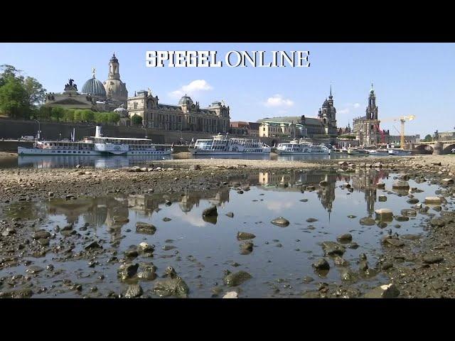 Hitze und Trockenheit: Schifffahrt auf der Elbe eingestellt