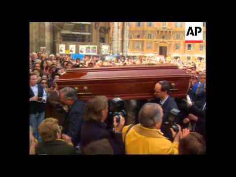 Italy - Funeral Of Giulietta Masina