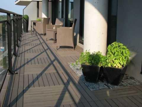 Composite Deck Tiles Over Wood Design