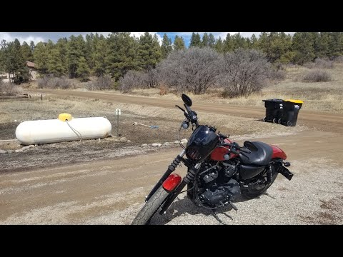 Crusing Harley Davidson 883. Corona Virus Cruise.