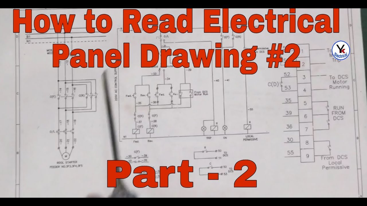 how to read electrical panel drawing & diagram part-2 in hindi | yk  electrical - youtube  youtube