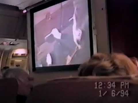 Air Canada flight from Dublin Ireland with safety video from 1994