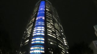 #1 Walk Around in Roppongi Hills(JAPAN) At Night in first person camera
