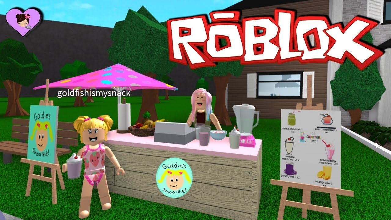 Baby Goldie S New Smoothie Stand In Bloxburg Roblox Adventures
