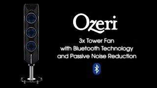 Ozeri 3X Passive Noise Reduction Technology Tower Fan with Bluetooth