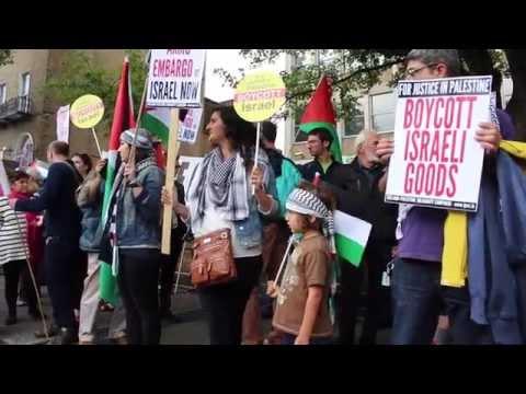 Symbolic Blockade Of Israeli Embassy In Dublin