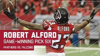 Robert Alford's Pick Six Seals Win for Falcons! | Panthers vs. Falcons | NFL