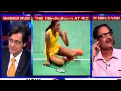 Arnab Goswami Speaks Exclusively to PV Sindhu's Father