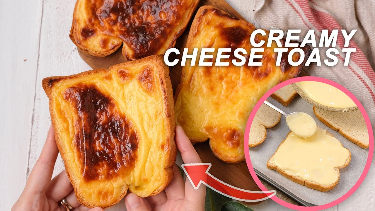 CREAMY CHEESE TOAST RECIPE with 5 Ingredients