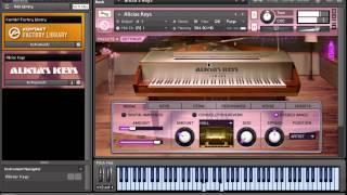 Demonstração Do Piano Kontakt Alicia S Keys