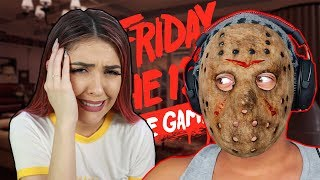 VIREI O JASON E ASSUSTEI A FUNBABE - Friday the 13Th The Game