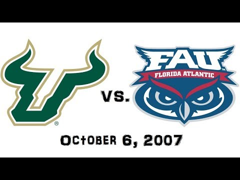 October 6, 2007 - #6 South Florida Bulls vs. Florida Atlantic Owls Full Football Game