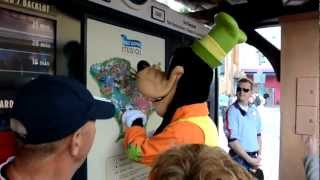 12th May 2012 - Goofy takes over the information booth in the studios