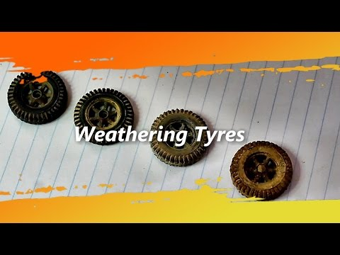 scale model tips and tech Weathering Tyres