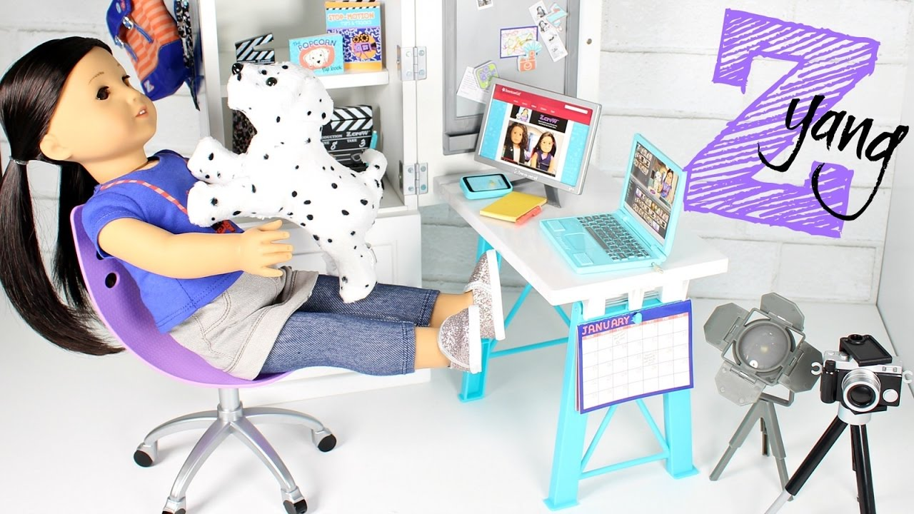American Girl Doll Z Desk Playset Review  YouTube