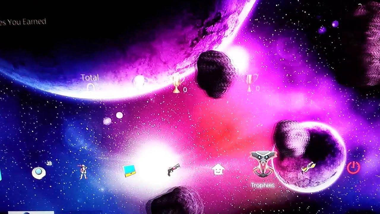 new ps4 themes 3d dynamic galaxy theme p youtube
