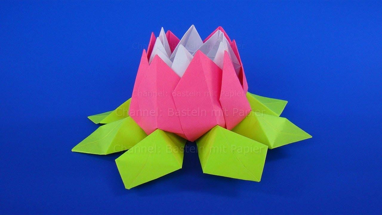 Origami Blume Basteln Mit Papier Muttertagsgeschenke Selber Machen Diy Muttertag