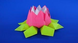 Origami Blume basteln mit Papier: Geschenke selber machen - DIY Bastelideen