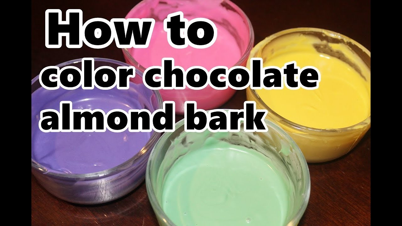 how to change the color of almond bark / smooth candy melts