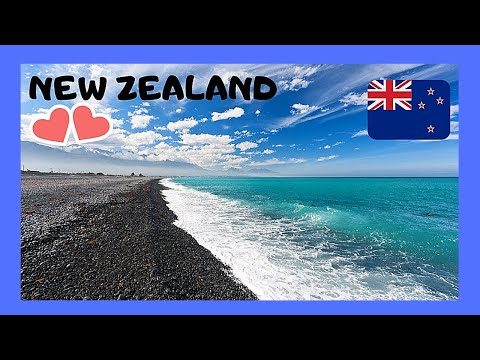 NEW ZEALAND, the spectacular KAIKOURA BEACH, South Island (Pacific Ocean)