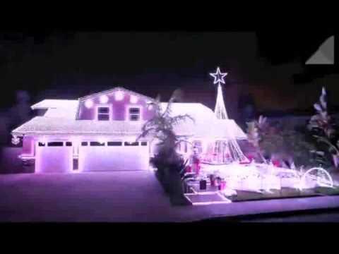 Weihnachtsbeleuchtung mit Musik - YouTube