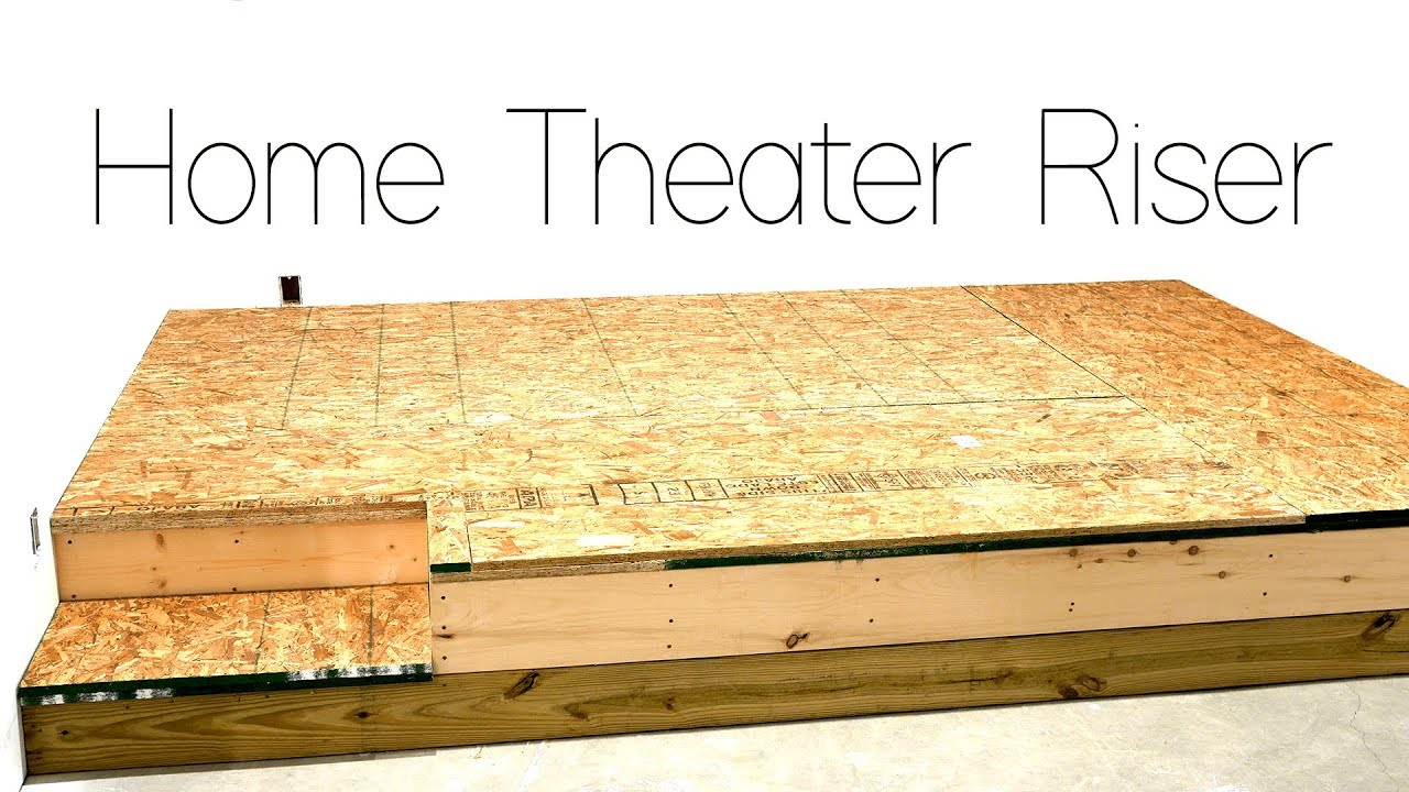 DIY Home Theater Seating Riser Construction 🍿 - YouTube  YouTube