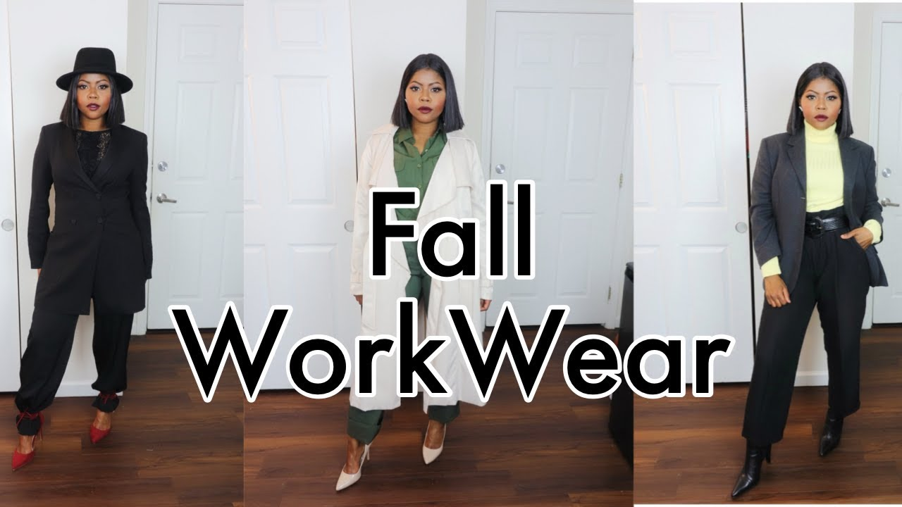 [VIDEO] - Fall Workwear Ideas: WORK and OFFICE OUTFITS LOOKBOOK | Women's Fashion 2019 2