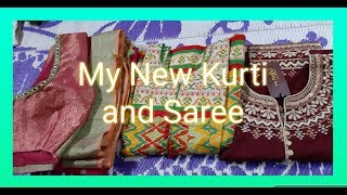Shopping haul in tamil// Saree  and Kurti shopping haul in tamil