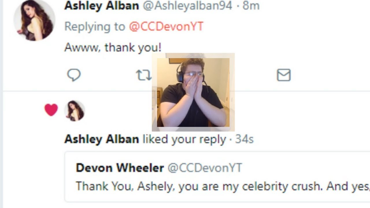 Ashley Alban Liked My Tweet Reaction and Thoughts