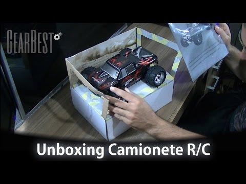 Unboxing CAMIONETE de Controle Remoto 4×4 que vai a 50 Km/H! Chop ODIOU! ;-)