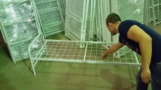 видео Кровати металлические односпальные для общежитий Оптом