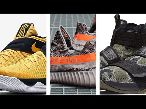 "Yeezy 350 V2 ""Solar Red"", Camo LeBron SOLDIER 10, Kyrie 2 ""Australia"" and more on #TodayinSneaks"