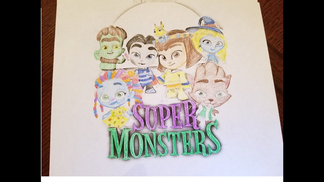 super monsters coloring pages Super Monsters Netflix! Coloring video! Watch the super monsters  super monsters coloring pages
