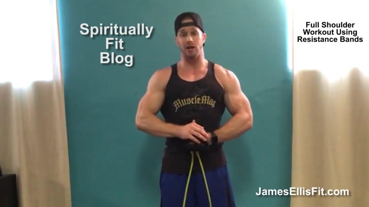FULL Shoulder Workout using Resistance Bands
