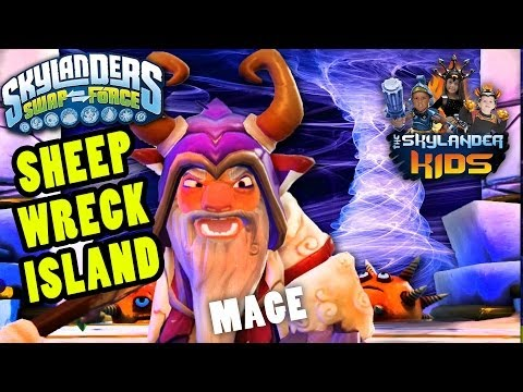 Let's Play Skylanders Swap Force: Sheep Wreck Island (Wave 3 vs. Sheep Mage Boss Battle Gameplay)