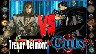 Trevor Belmont (Castlevania) vs Guts (Berserk) - Ultimate Mugen Fight 2017