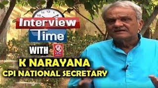 Interview Time With CPI National Secretary K Narayana | V6 New…