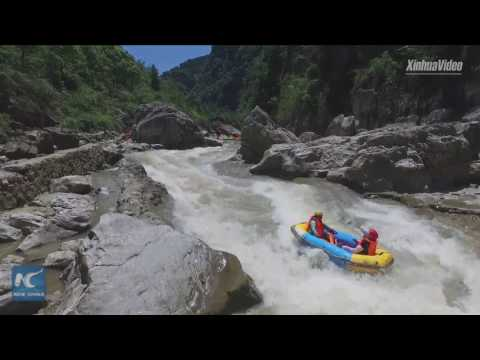 A cool experience! River-drifting is all the rage in China amid hot weather
